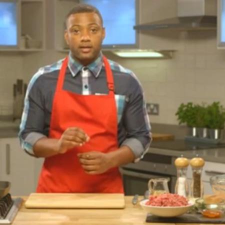 JB from JLS cooks burgers