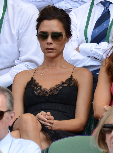 Victoria Beckham recycles Louis Vuitton dress for Wimbledon final