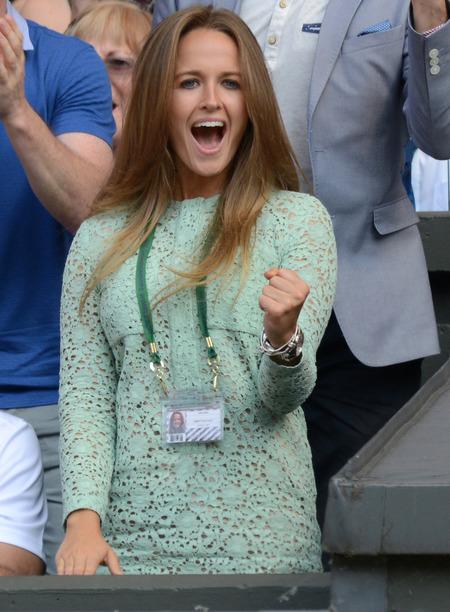 Kim Sears at the Wimbledon final 2013