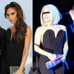 FASHION FIGHT! Victoria Beckham v Lady Gaga in plunging jumpsuit