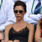Victoria Beckham recycles Louis Vuitton dress at Wimbledon