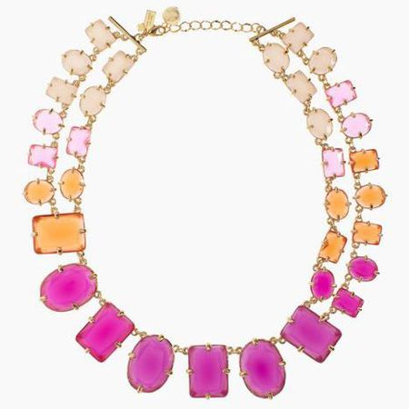 Kate Spade Coated Confetti Small Statement Necklace