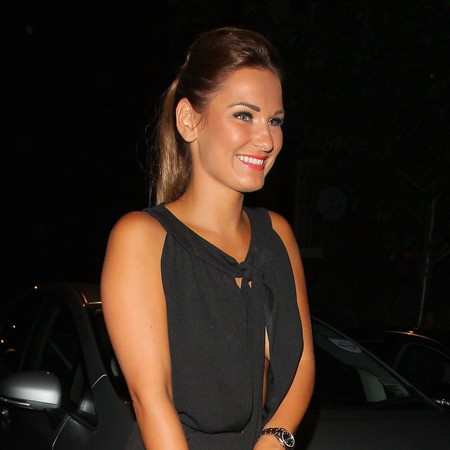 TOWIE's Sam Faiers hits the town with new brunette locks