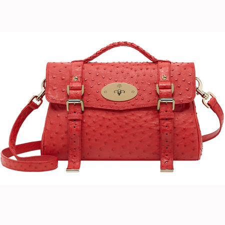 Mulberry Red Ostrich Alexa, exclusive to Westfield London