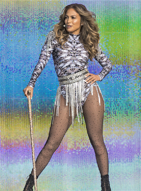 Jennifer Lopez in silver glitter