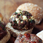 BBQ Ideas: Spicy lamb and feta mini-burgers