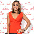 Jessica Ennis pops in orange Antonio Berardi dress