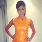 Nicole Scherzinger leathers up for X Factor auditions