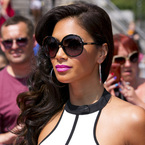 Nicole Scherzinger stuns with glossy curls & pink pout