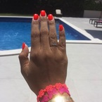 Rochelle Humes' poolside nail manicure