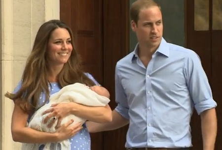 Kate and William after Prince George's birth