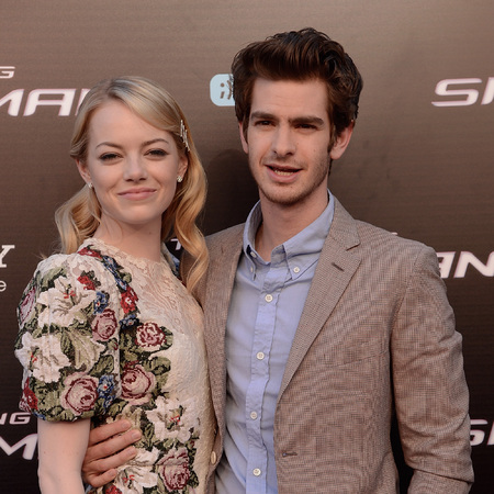 Andrew Garfield and Emma Stone at The Amazing Spiderman premiere