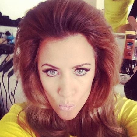 Caroline Flack's big hair