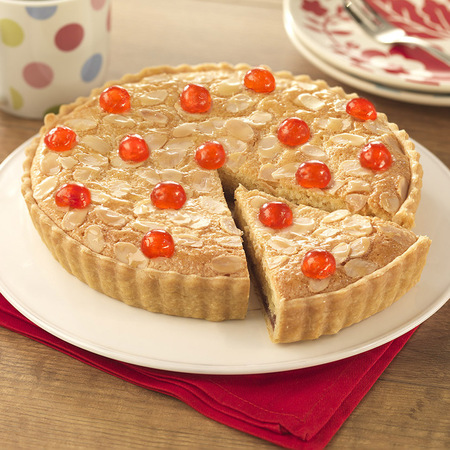 Cherry and Almond Tart with homemade pastry