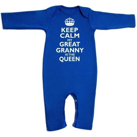Keep Calm Romper - Royal Edition