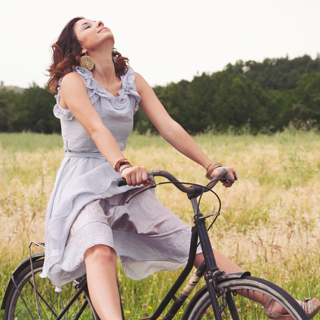 woman on bike exercise