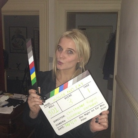 Helen Flanagan on set of Mouse and Cat