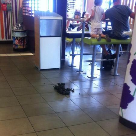 Horse poop in McDonalds