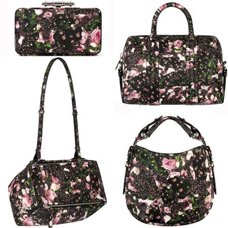 Givenchy floral Resort 2014 handbag collection