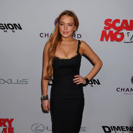 Lindsey Lohan at the 'Scary Movie V' Los Angeles