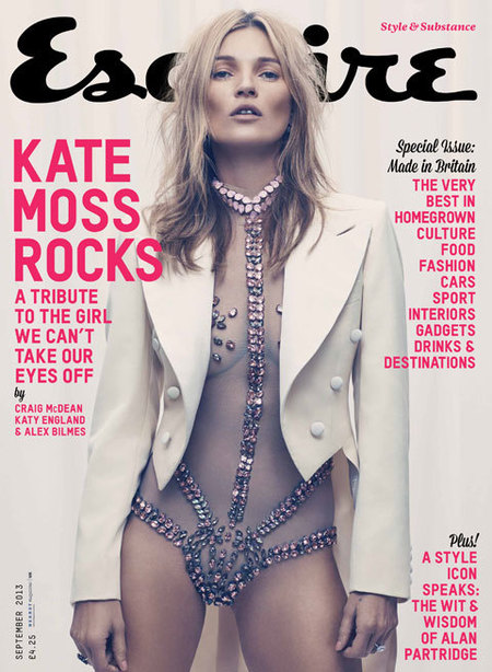 Kate Moss covers British Esquire in sheer bodysuit