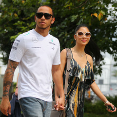 Lewis Hamilton and Nicole Scherzinger before their split in June