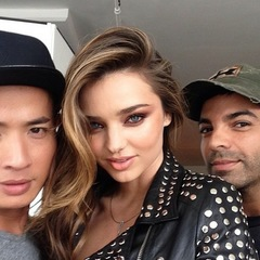 Miranda Kerr doing punk beauty for photoshoot