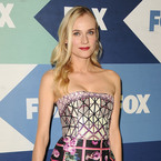 Diane Kruger flaunts figure in Mary Katrantzou prints