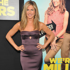 Jennifer Aniston slips into strapless Burberry