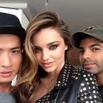 Miranda Kerr does punk with smoky brown eye makeup