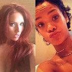 Rihanna & Amy Childs do topless hair trend
