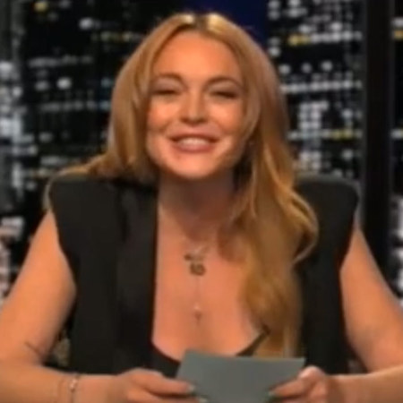 Lindsay Lohan presenting on Chelsea Lately show