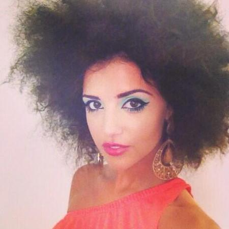Lucy Mecklenburgh with afro hair