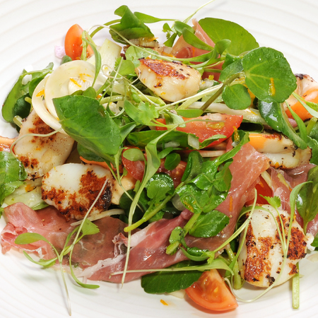 Scallop salad recipe