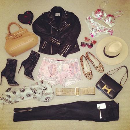 Rosie Huntington Whiteley packs for weekend away - hermes handbag - celebrity holiday style - handbag.com