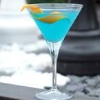 The Handbag Blue Gin and Orange Cocktail