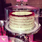 Jessie J's iced red velvet cake