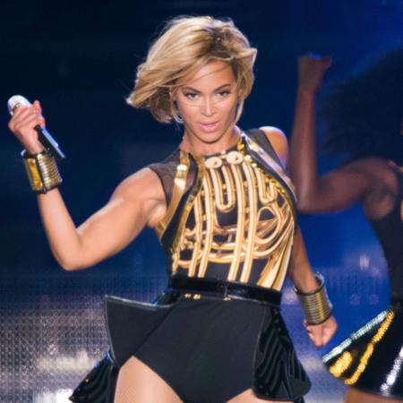 Beyonce choppy bob hair style V Festival