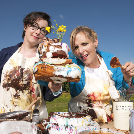 Mel and Sue Great British Bake Off 2013 contestants