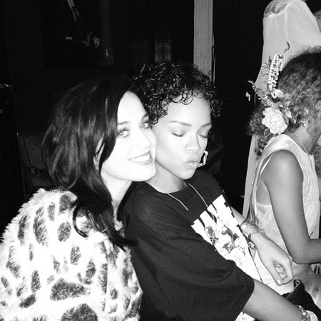 Rihanna sits on Katy Perry's lap in Instagram picture