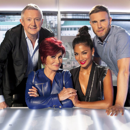 The X Factor judges 2013, Gary Barlow, Louis Walsh, Nicole Scherzinger and Sharon Osbourne