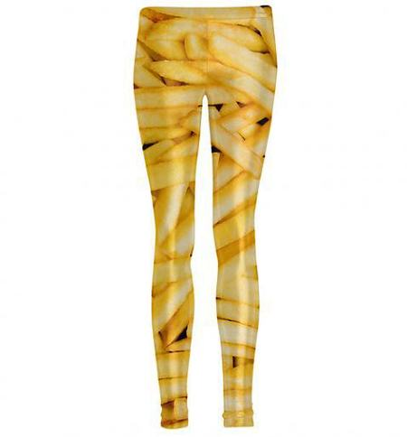 Leggings that look like food