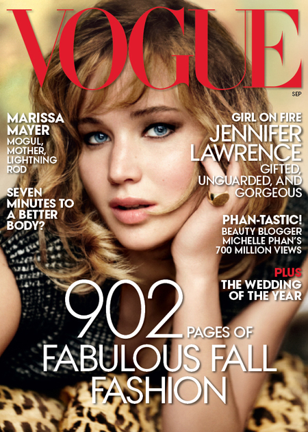 Jennifer Lawrence on the cover of American Vogue