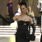 Lady Gaga suffers underboob slip in strapless LBD