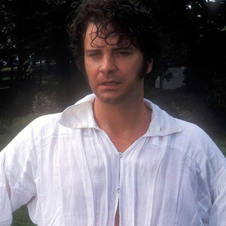 Mr Darcy emerging from water Colin Firth