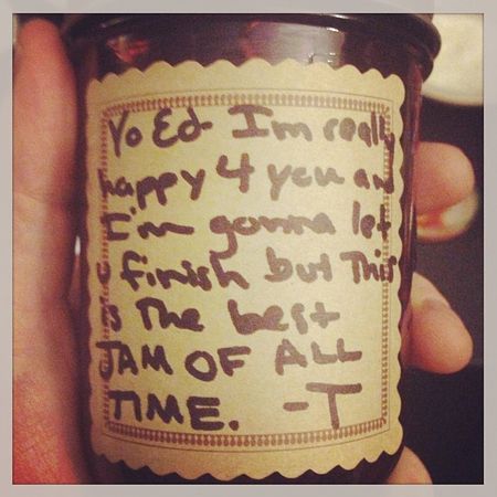 Ed Sheeran's Instagram picture of Taylor Swift's jam