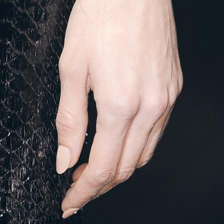 Porcelain nude nails at Gucci