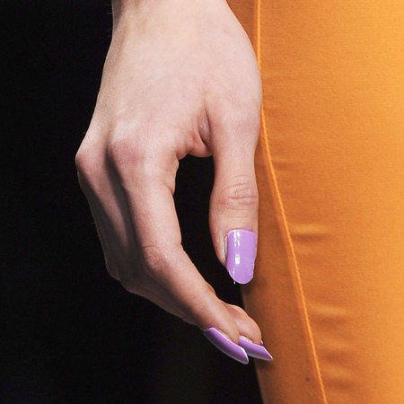 Pretty lilac nails at PPQ