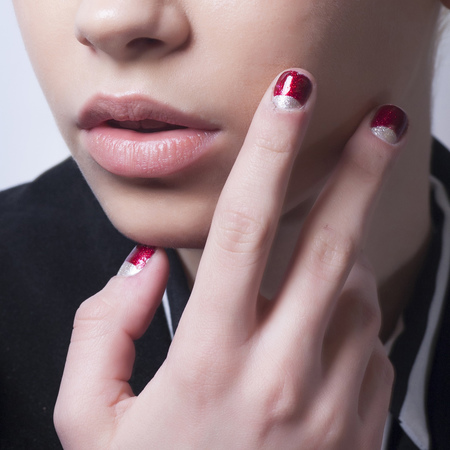 Red and silver nails at Clements Ribeiro