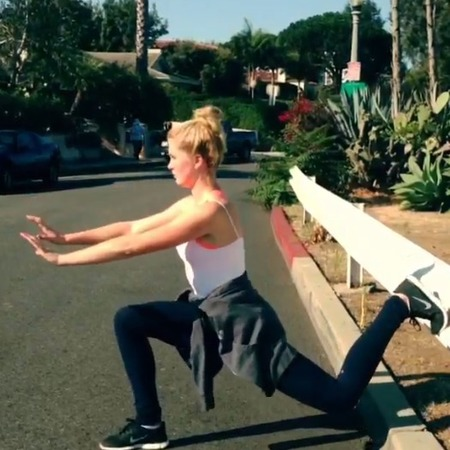 Ireland Baldwin works out
